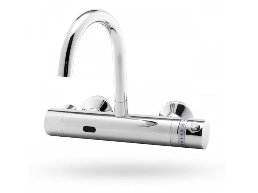 Infrared Electronic Wall-Mounted Tap for public WC APOLLO MEDICAL F by Stern
