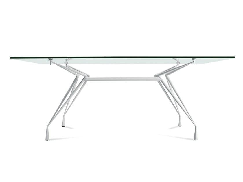 Contemporary style steel table APOLLONIO by Casprini