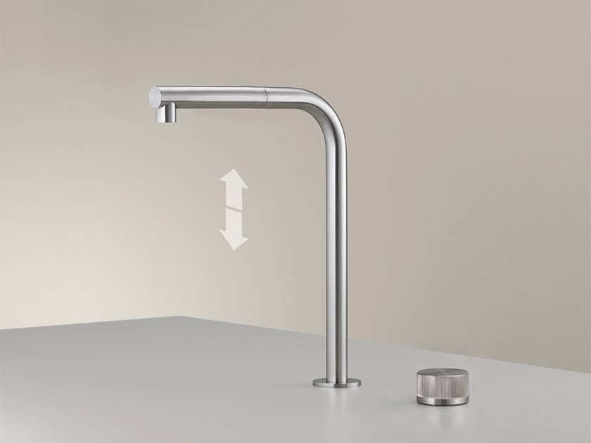 2 hole kitchen mixer tap with pull out spray APP 03 by Ceadesign