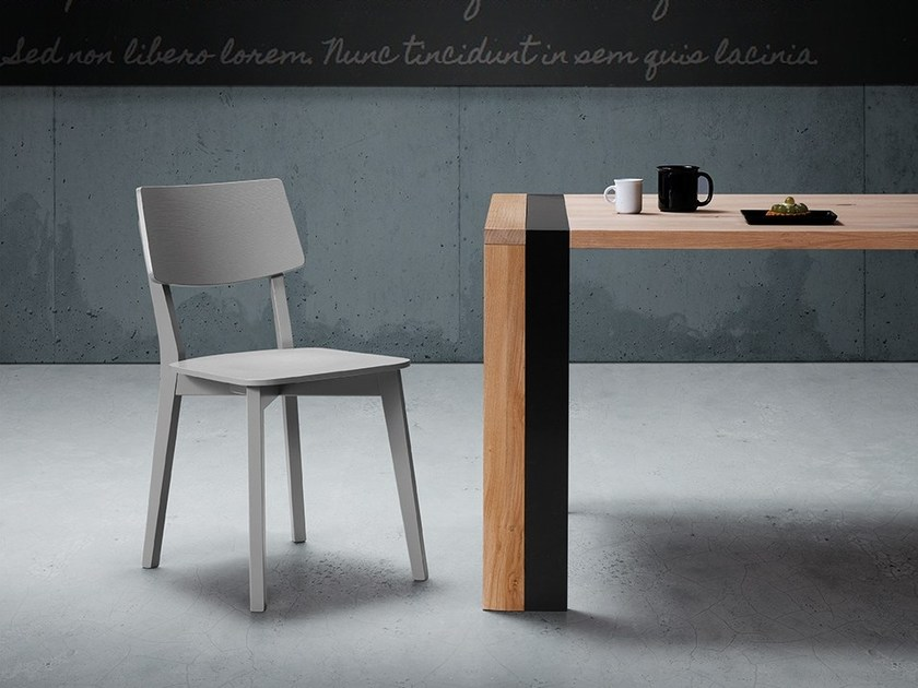 Contemporary style open back wooden chair APP by Natisa