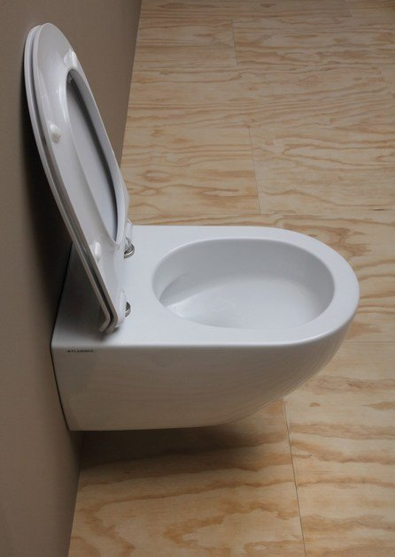 Contemporary style rimless wall-hung ceramic toilet APP GOCLEAN | Wall-hung toilet by Ceramica Flaminia