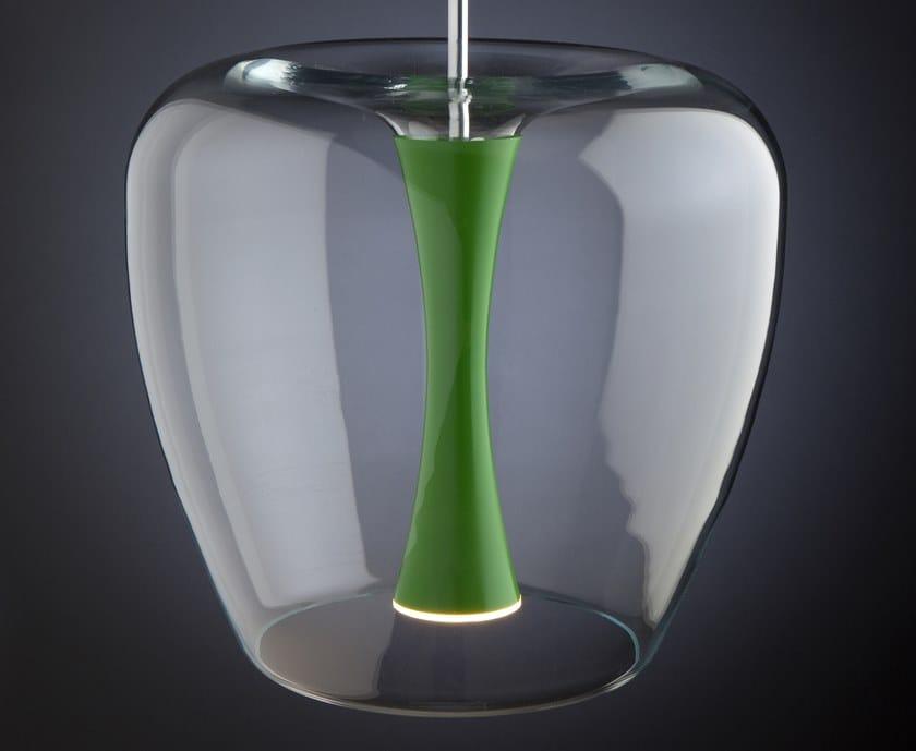 Lampada a sospensione a LED in alluminio e vetro APPLE MOOD by Quasar