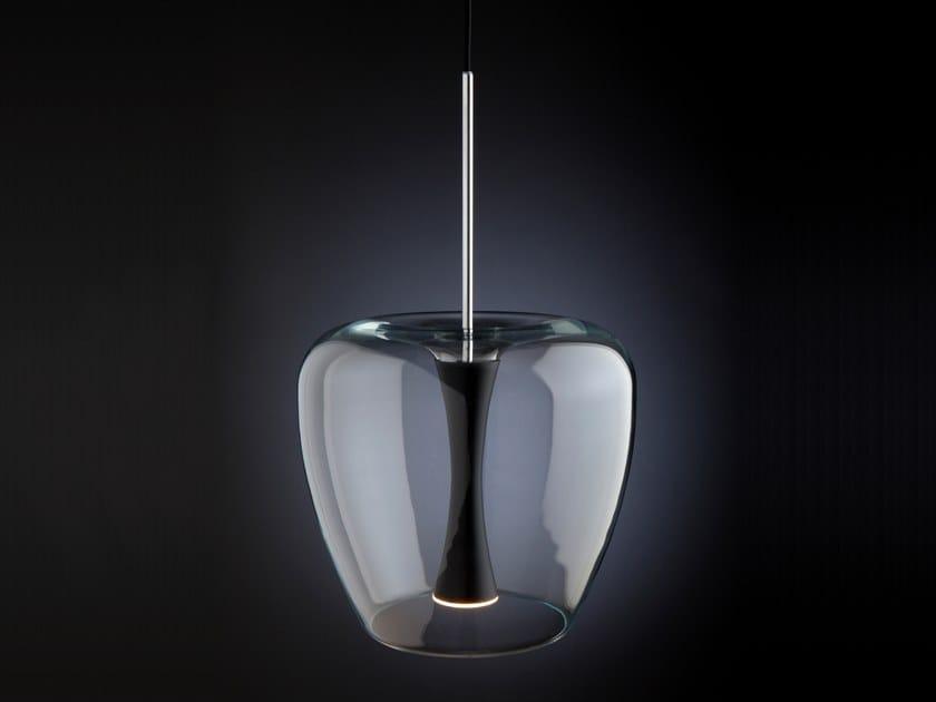 LED glass and aluminium pendant lamp APPLE MOOD by Quasar