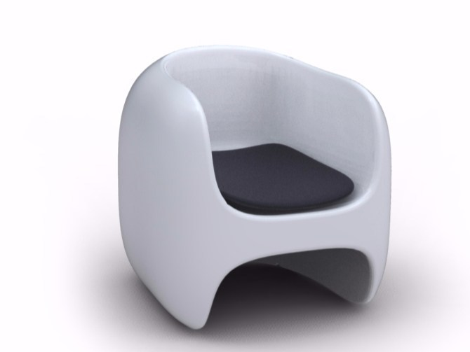 Adamantx® armchair with armrests APPLE by ZAD ITALY
