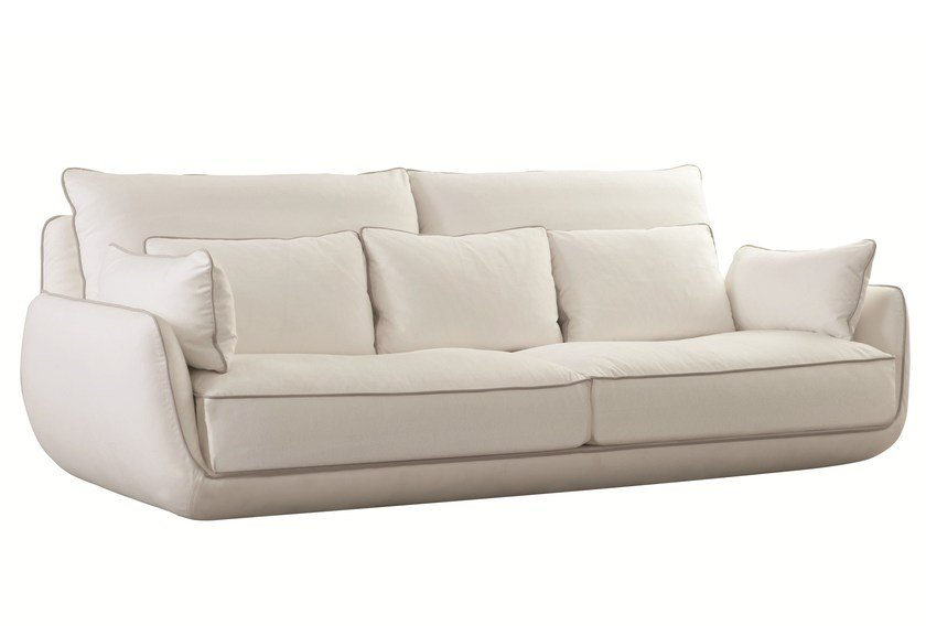 3 seater fabric sofa with removable cover APPROCHE by ROCHE BOBOIS