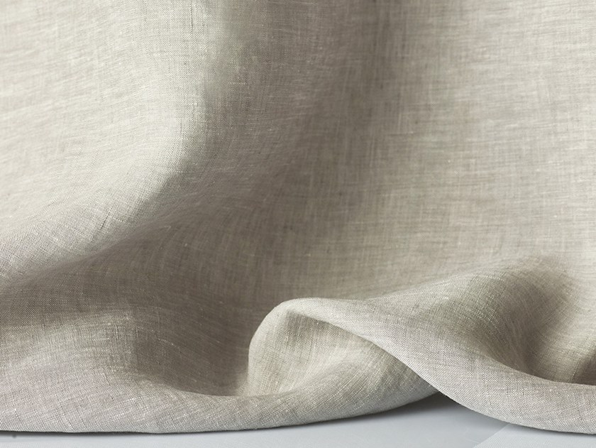 Solid-color linen fabric for curtains APRIL by Dedar