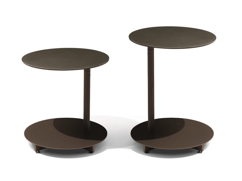 Round steel garden side table APSARA | Round coffee table by GIORGETTI