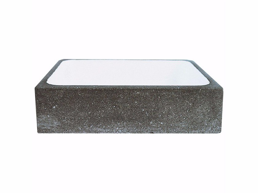 Rectangular stone washbasin AQ1 by Made a Mano
