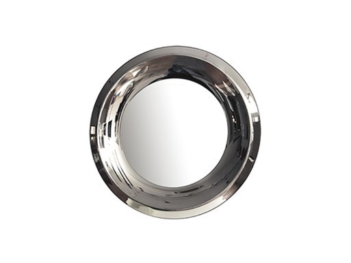 Round wall-mounted framed mirror AQUA | Round mirror by RIFLESSI