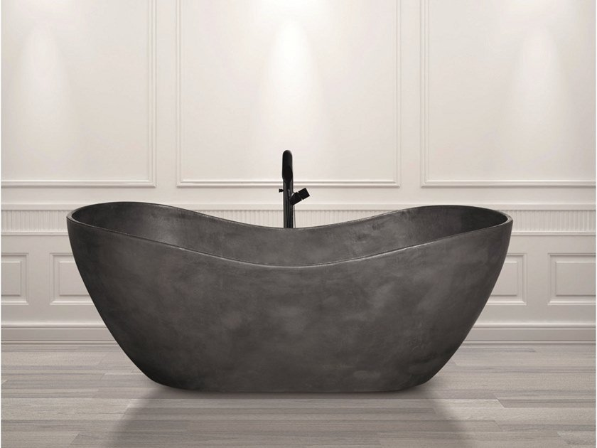 Freestanding Cristalplant® bathtub AQUAMAR by Aquadesign Studio
