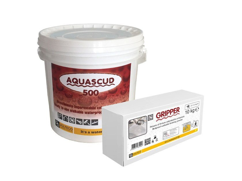 Liquid waterproofing membrane AQUASCUD 500 by Volteco