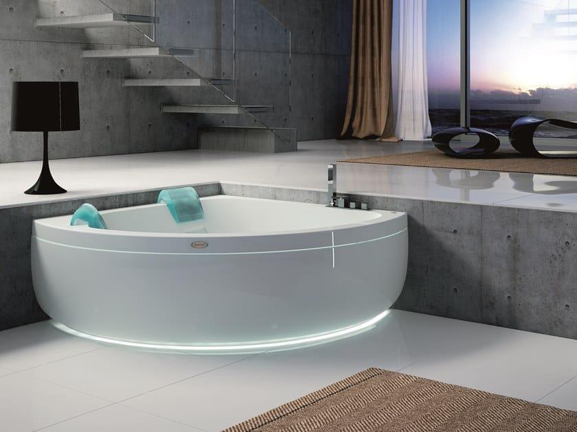Bañera de esquina de hidromasaje con cromoterapia AQUASOUL CORNER 155   Bañera by Jacuzzi®