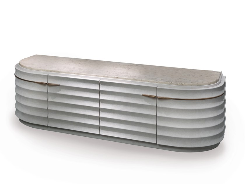 Lacquered sideboard with doors AQVILA | Sideboard by Elledue Arredamenti