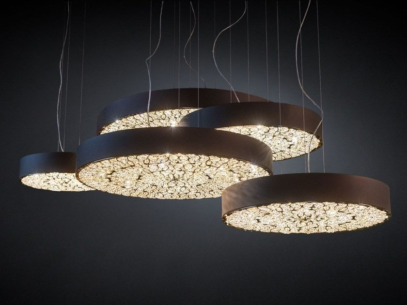 LED pendant lamp with crystals ARABESQUE CHRYSLER by VGnewtrend
