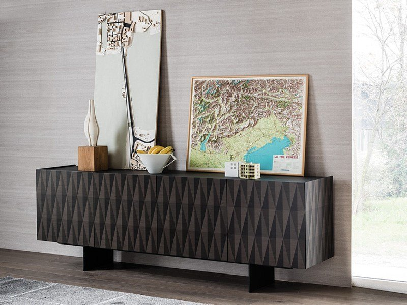 Maple sideboard with doors ARABESQUE by Cattelan Italia