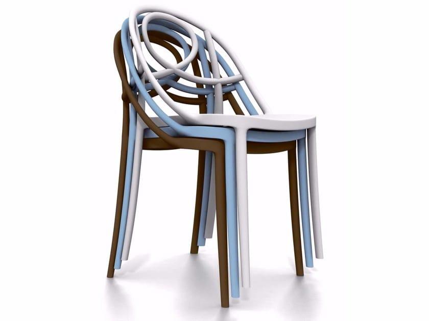 Sedia impilabile in plastica ARABESQUE - Italy Dream Design