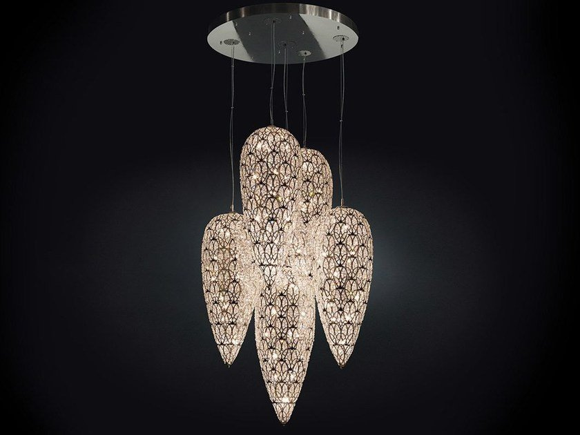 Pendant lamp with crystals ARABESQUE LIGHTFALL SENSATION by VGnewtrend