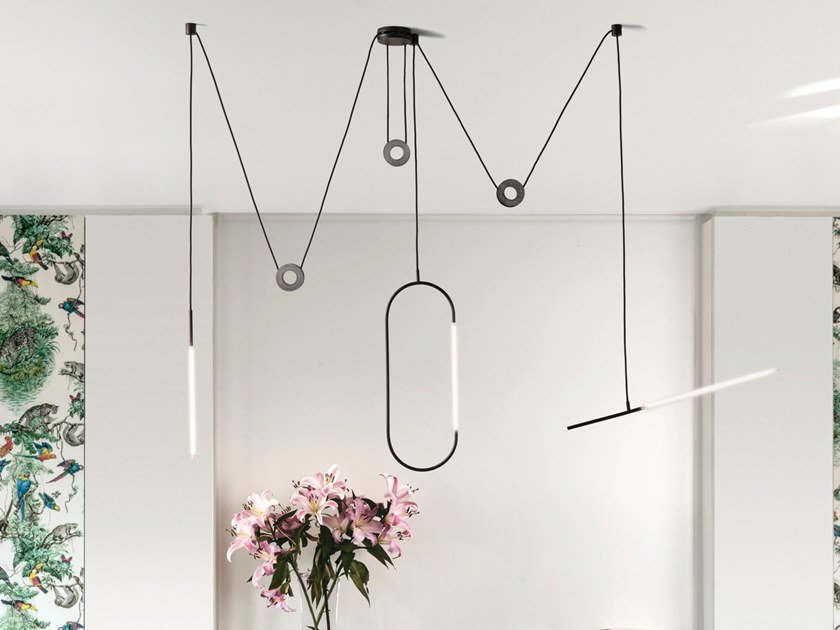 LED steel pendant lamp ARACHNE III by Inventive