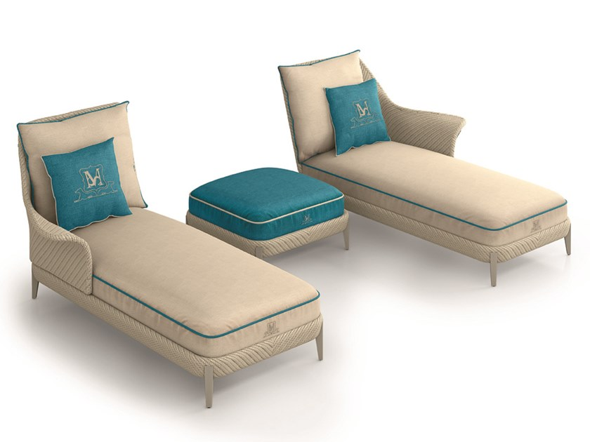 Upholstered fabric Garden daybed ARALIA | Garden daybed by Samuele Mazza Outdoor