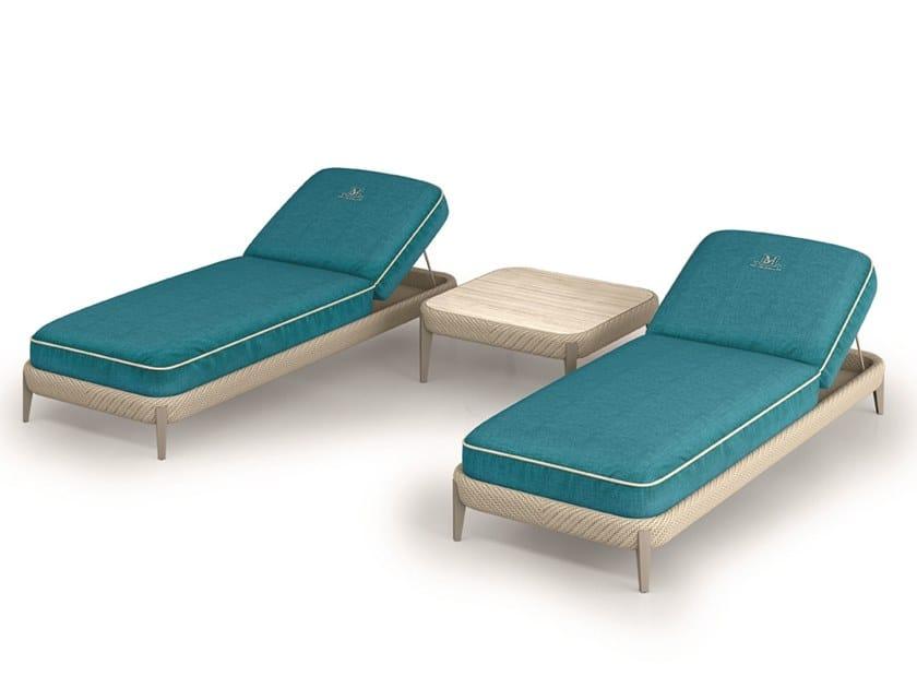Fabric sun lounger ARALIA | Sun lounger by Samuele Mazza Outdoor