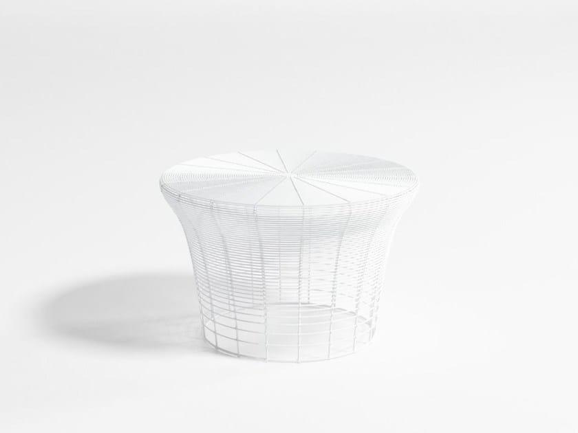 Low stainless steel garden stool ARAM   Low stool by GANDIA BLASCO