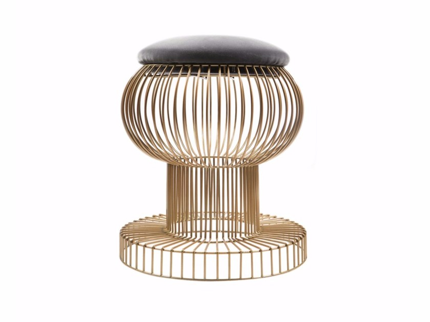 Low metal stool ARAMIS by Hamilton Conte Paris