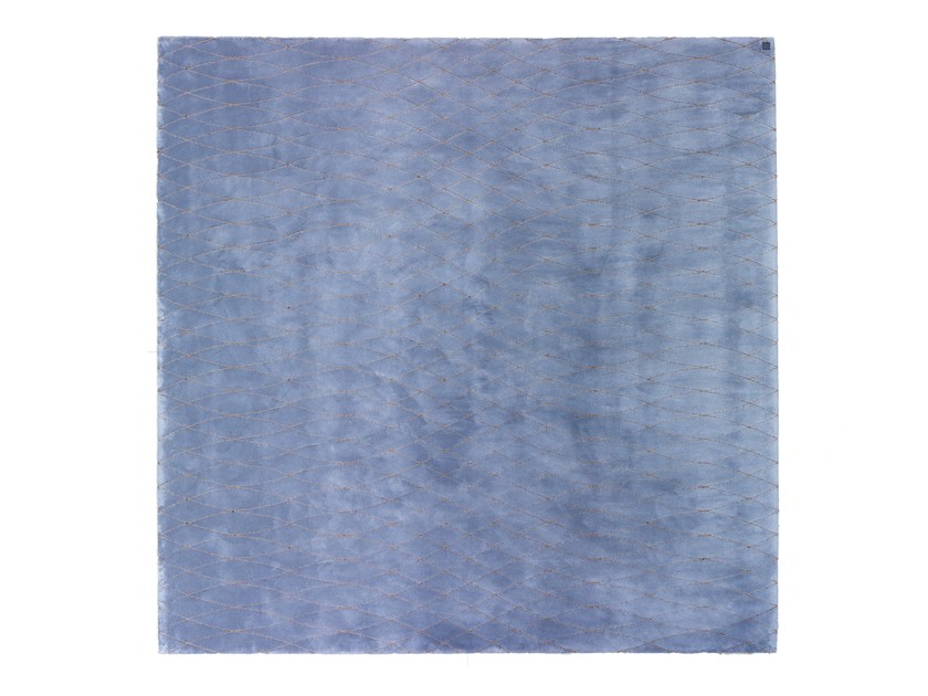 Solid-color square fabric rug ARAMIS by Smania