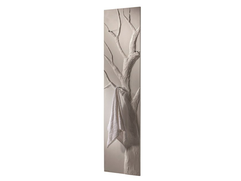 Contemporary style wall-mounted hot-water electric metal towel warmer ARBRE BAIN 130 by Cinier