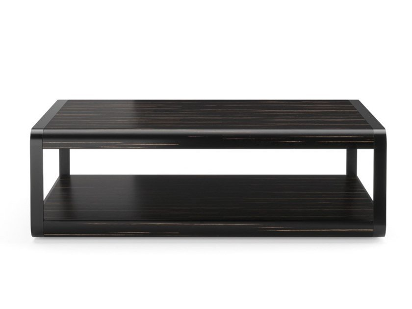 Rectangular wooden coffee table with integrated magazine rack ARC | Coffee table by PRADDY