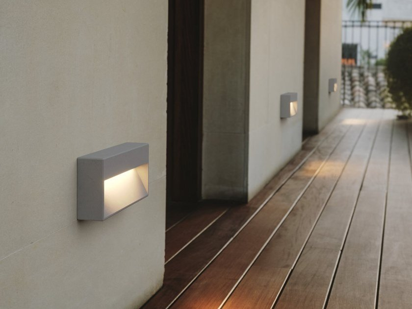 LED wall-mounted outdoor cement steplight ARC by LEDS C4
