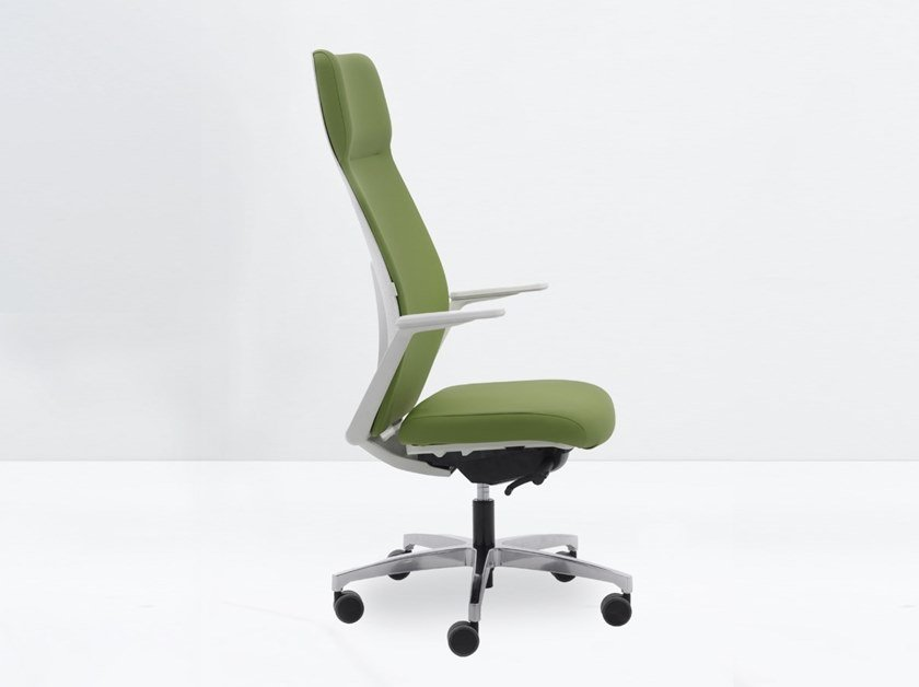 Fabric task chair with armrests ARC by delaoliva