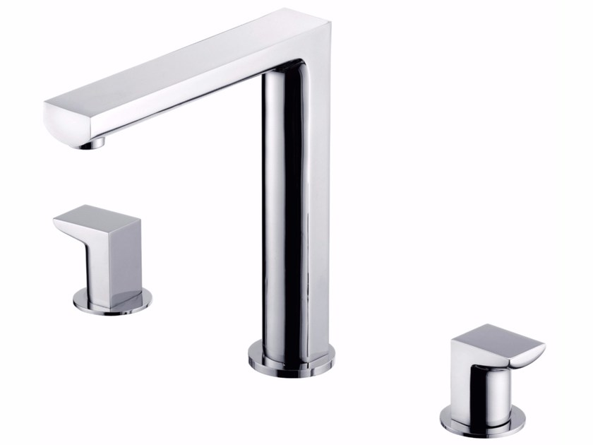 3 hole countertop kitchen tap with swivel spout ARCH | 3 hole kitchen tap by JUSTIME