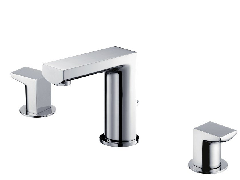3 hole countertop washbasin tap ARCH   3 hole washbasin tap by JUSTIME