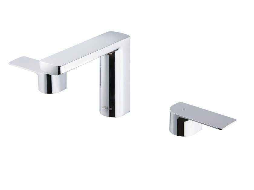 3 hole countertop chromed brass washbasin tap ARCH | 3 hole washbasin tap by JUSTIME