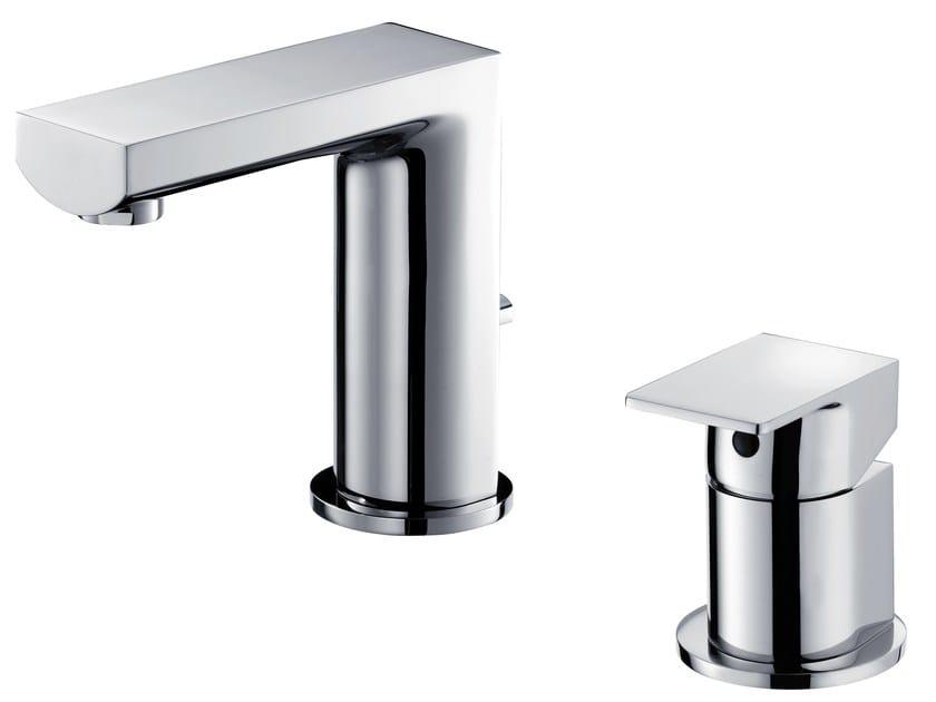 2 hole countertop chromed brass washbasin tap ARCH | Chromed brass washbasin tap by JUSTIME