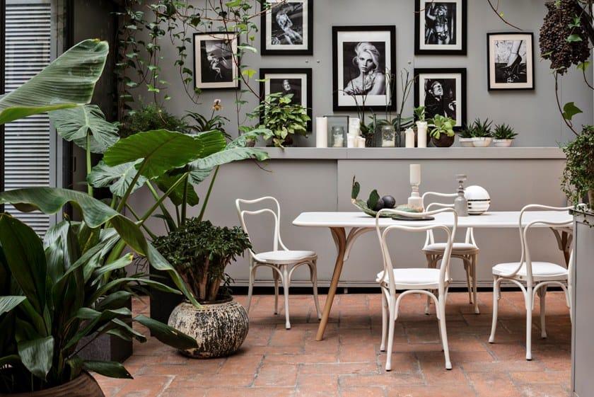 Tavolo Design Gtv Arch Table Dining Rettangolare In Wiener Faggio 53L4ARqj