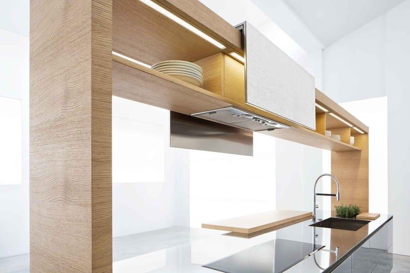 Küche aus Stahl und Holz ARCHEA II. By Polaris Life Design ARIS ...