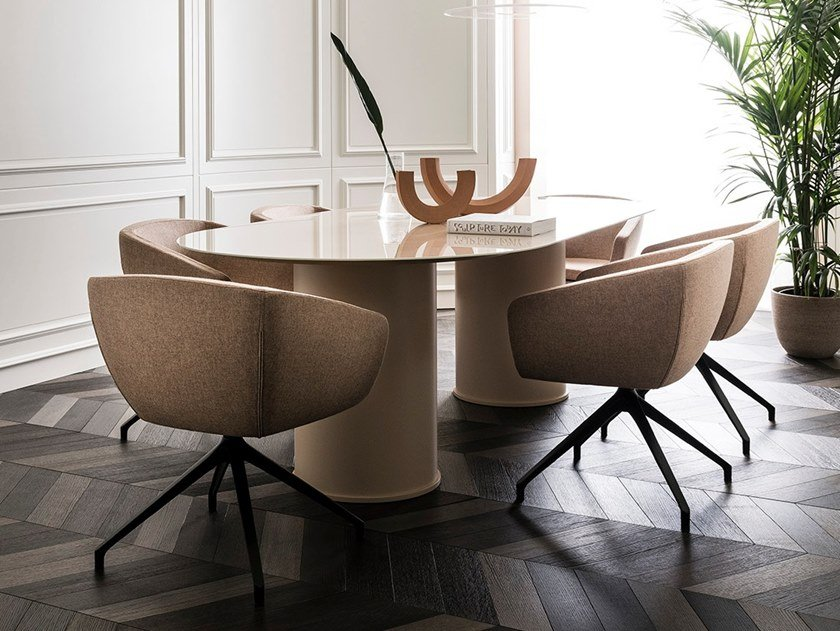 Oval glass table ARCHETIPO | Table by L'Ottocento