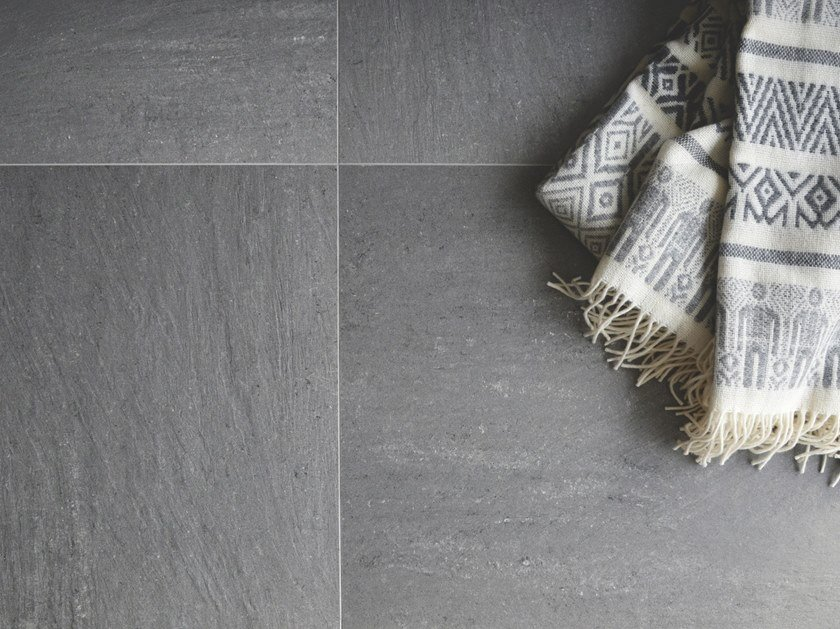 Indoor/outdoor porcelain stoneware flooring with stone effect ARCHGRES by Terratinta Ceramiche