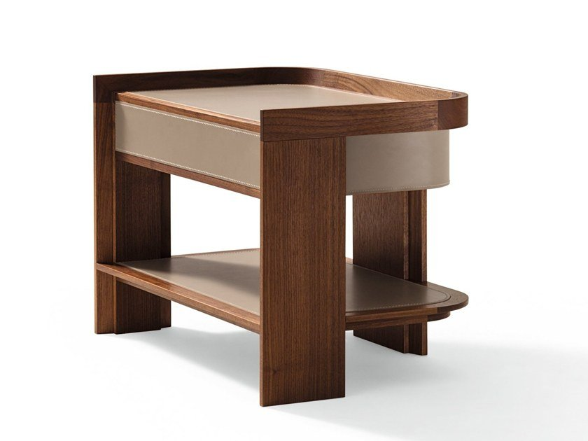 Wooden bedside table with drawers ARCHIBALD by GIORGETTI