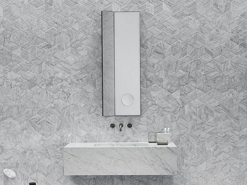 Rectangular wall-mounted mirror ARCHIMEDE | Rectangular mirror by SALVATORI