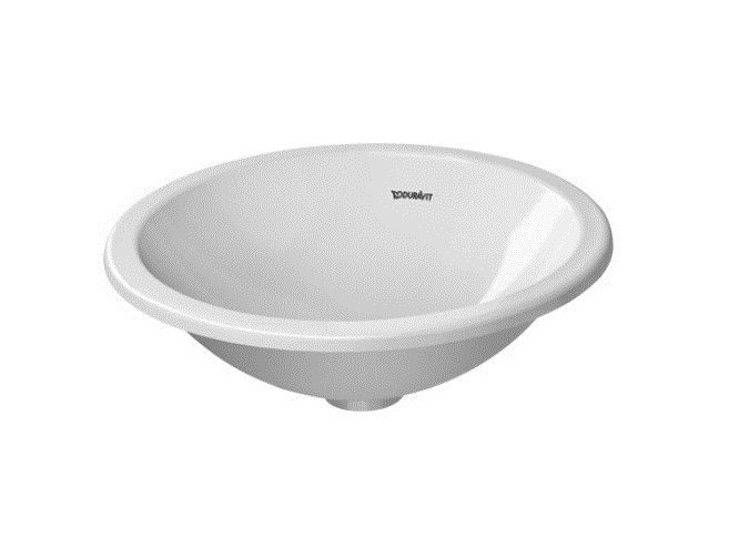 Lavabo da incasso soprapiano rotondo in ceramica architec lavabo