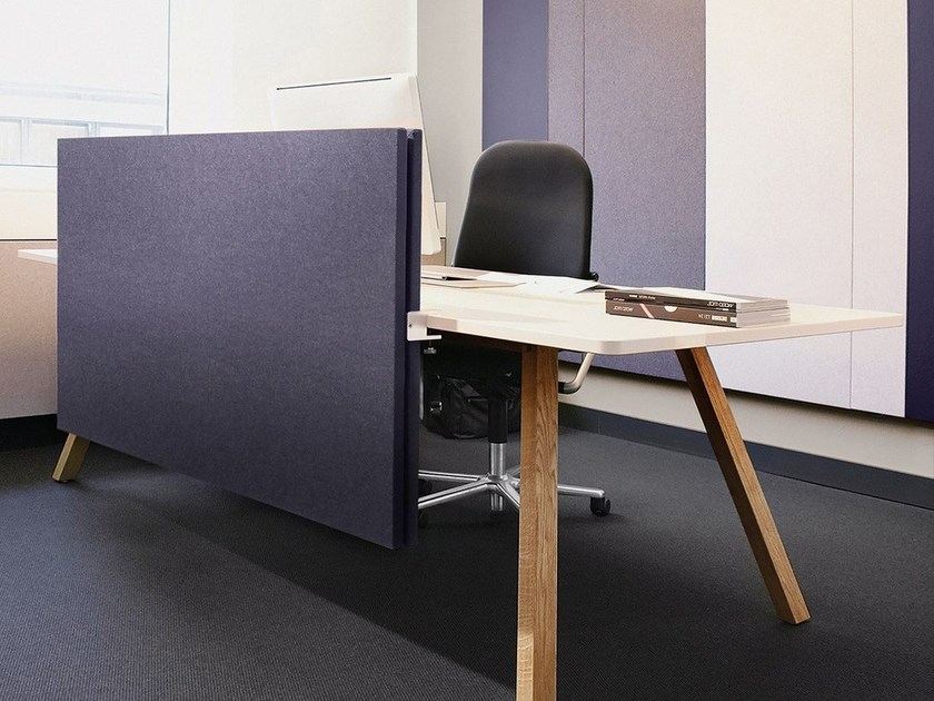 Fabric-based acoustic panels - table separators ARCHITECTS TEXTILE DESKTOP by Acousticpearls