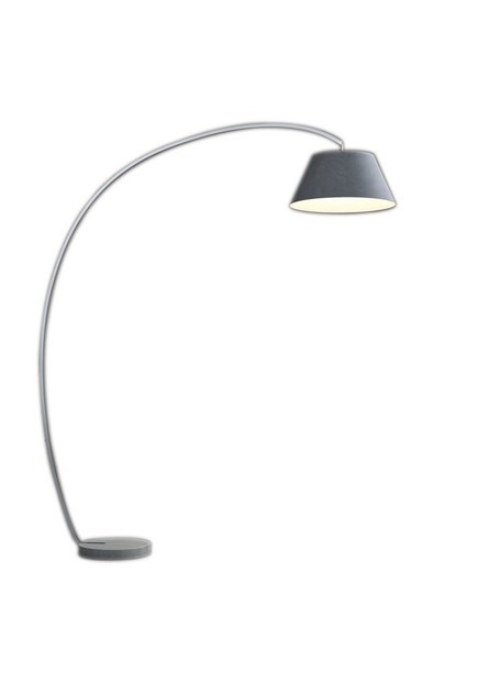 Contemporary style brushed steel floor lamp ARCI by ENVY