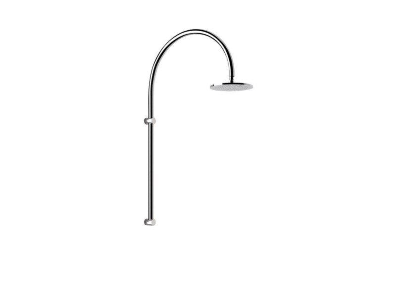 Wall-mounted stainless steel outdoor shower ARCO BEAUTY by Inoxstyle