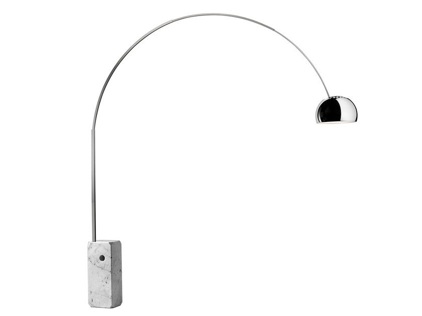 Design aluminium floor lamp ARCO by FLOS
