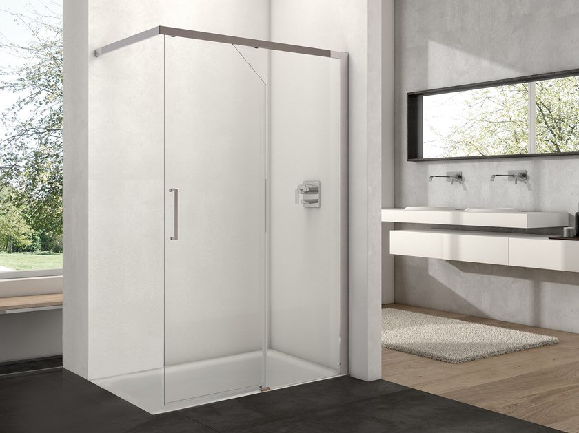 Rectangular Walk in shower with sliding door ARCO FREE AB-5 by Provex Industrie