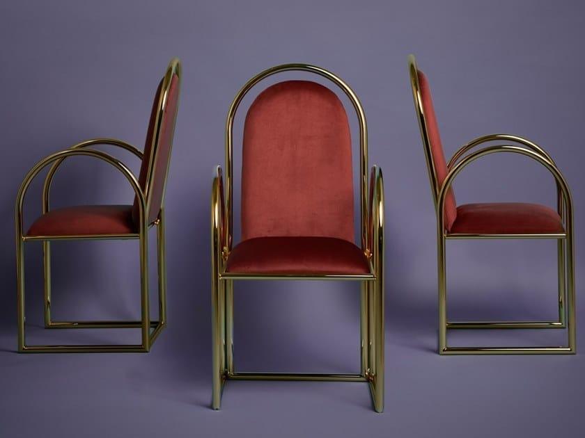 Sedia a slitta con braccioli ARCO | Sedia con braccioli by Houtique