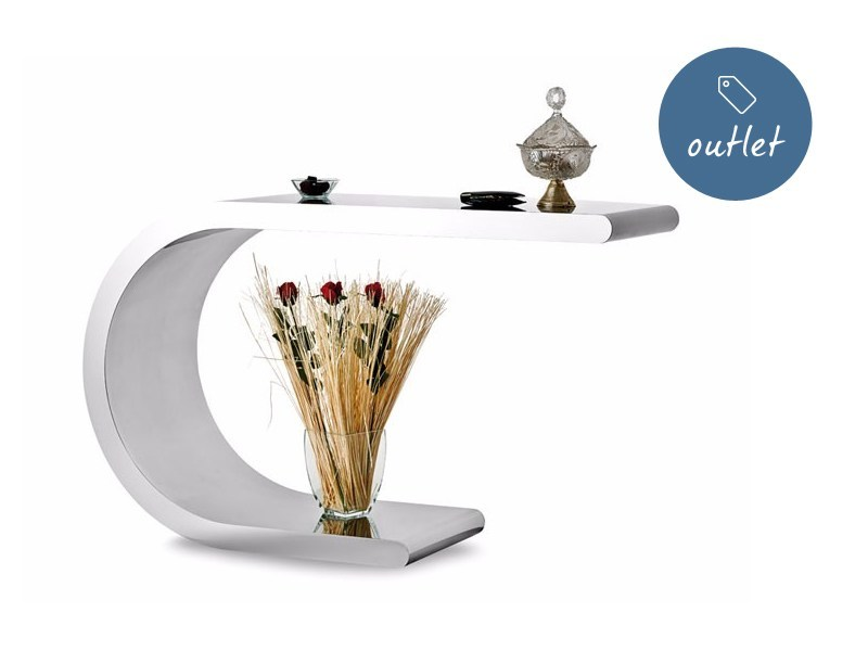 Stainless steel console table ARCO by Lamberti Design