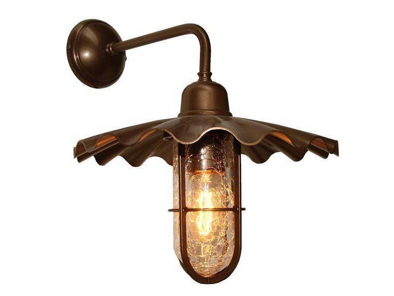 Direct light handmade wall lamp ARDLE A WELL GLASS FITTING by Mullan Lighting